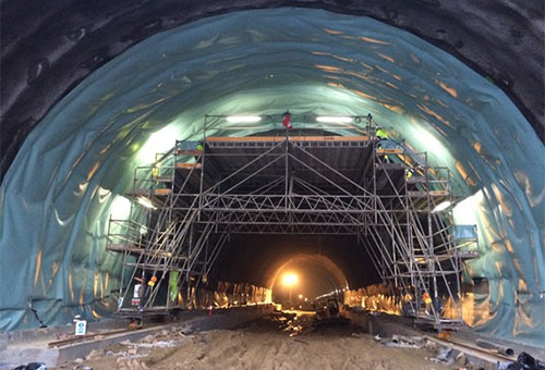 Waterproofing Pedralba Tunnel